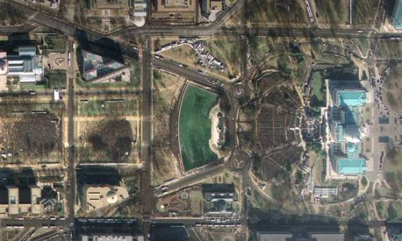 Satellite Image of the Capital Mall Crowd at Barack Obama's Presidential Inauguration