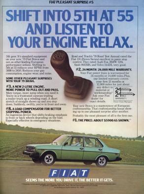 Fiat Brava 1979 Ad
