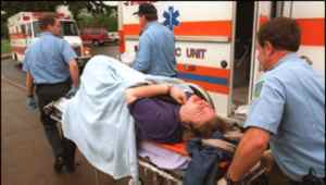 Wounded Thurston Student being taken to an Ambulance.  Photo: BBC News