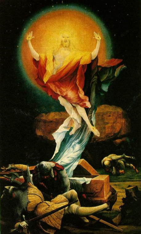 """Resurrection"" by Mattias Grunewald, Isenheim Alterpiece, 1555"