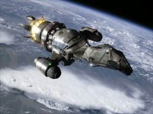 Spaceship Serenity from Firefly TV Series and the movie, Serenity