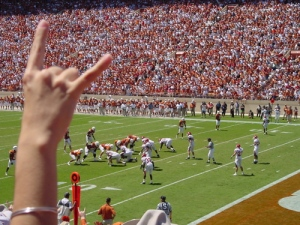Hook 'em Horns.  University of Texas Football