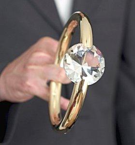 Gigantic Engagement Ring. Credit: www.lovetoknow.com