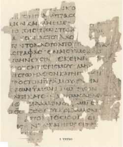 Gospel of John, Egerton Papyrus.  Credit: http://historyofscience.com/G2I/timeline/images/egerton_papyrus.jpg