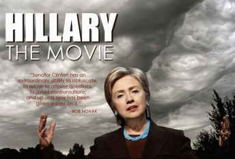 Hillary: The Movie Poster.  Image Courtesy Citizens United.